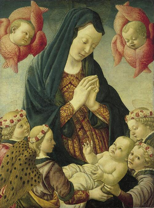 Virgin and Child with Four Angels and Two Cherubim