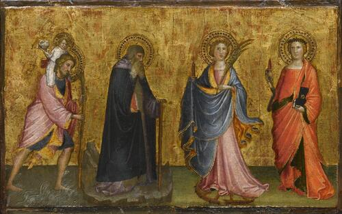 Saint Christopher with the Child and Sts. Anthony, Catherine and Lucy