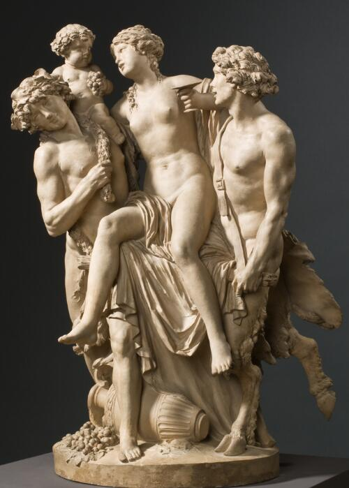 Bacchante Supported by Bacchus and a Faun