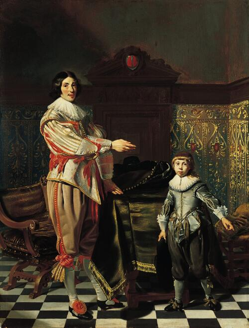 Dirck Van Der Wissel and His Son Jacob (Portrait of a Gentleman and His Son)