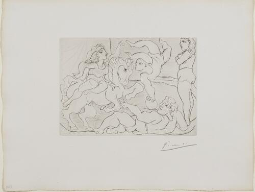 Suite Vollard, 1939, Paris: The Circus (Acrobats with a Horse)