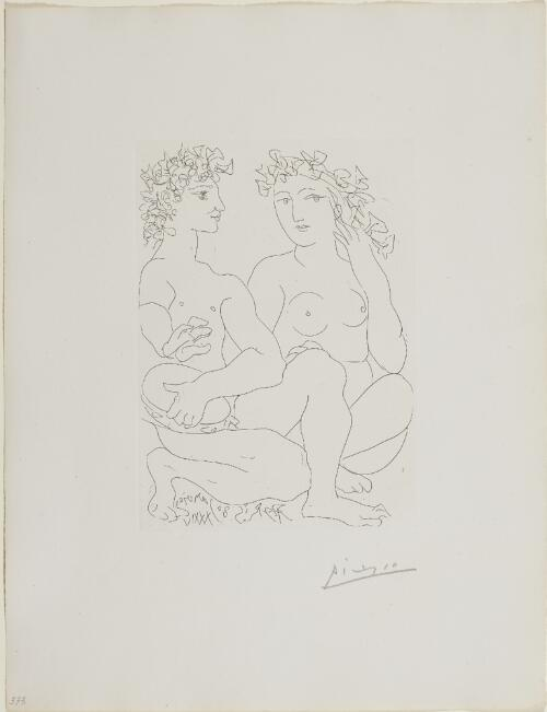 Suite Vollard, 1939, Paris: Entangled Heads and Figures (Studies of Heads, with Seated Nude)