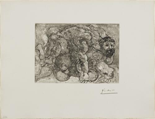 Suite Vollard, 1939, Paris: The Rape, VII (Embrace)