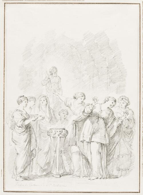 Study After Pietro da Cortona: St. Bibiana Refusing to Sacrifice to Idols (from Santa Bibiana)