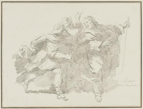 Study After Scarsellino (Ippolito Scarsella): Christ and His Disciples on the Way to Emmaus (from the Borghese Gallery)