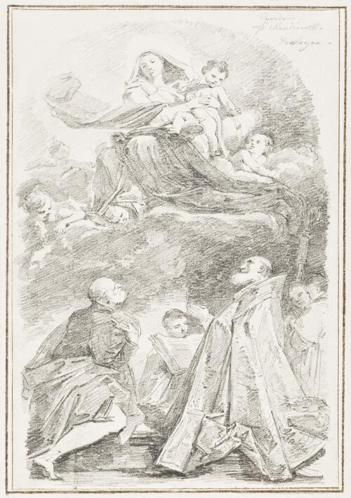 Study After Giacomo Cavedoni: The Virgin and Child with St. Alo and St. Petronius (from the Church of St. Alo)