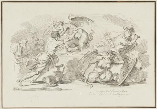 Study After Annibale Carracci: Episodes from the Myths of Jason and Aeneas (from the Palazzo Fava, Sala dell'Eneide)