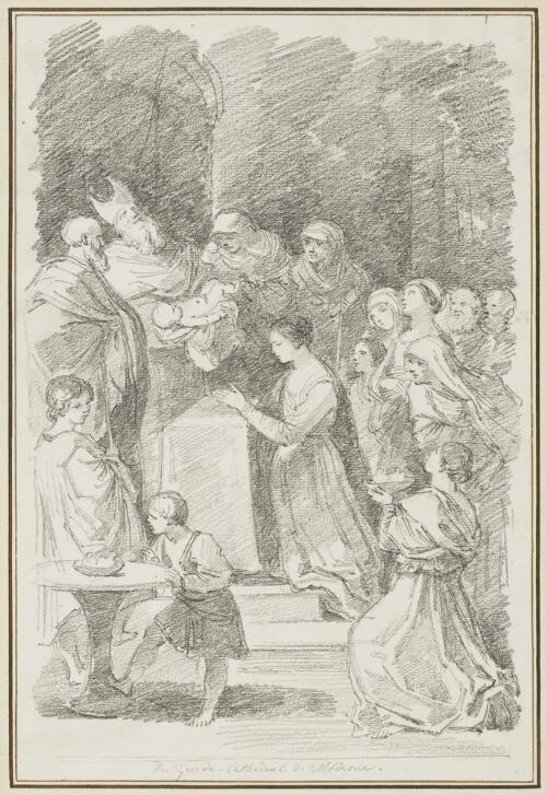 Study After Guido Reni: Purification of the Virgin (from the Cathedral)