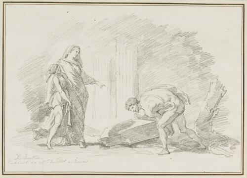 Study after Nicolas Poussin: Theseus Finding the Sword of His Father (from the Tillot Collection)