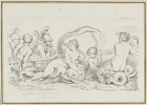 Study after Agostino Carracci: Galatea on the Boat of the Argonauts (from the Palazzo Ducale)