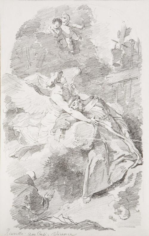 Study After Giovanni Battista Piazzetta: St. Francis in Ecstasy (from the Aracoeli)
