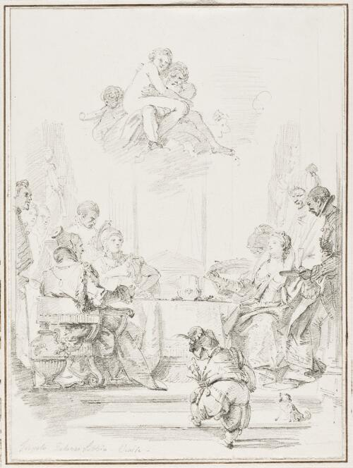 Study After Giovanni Battista Tiepolo: Banquet of Cleopatra (from Palazzo Labia)