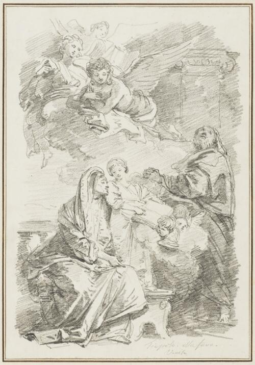 Study After Giovanni Battista Tiepolo: St. Anne Teaching the Virgin to Read (from Santa Maria della Fava)