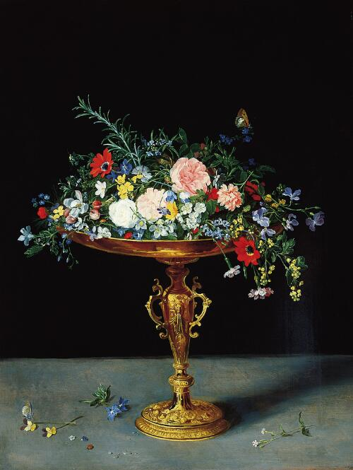 Flowers in a Gilt Tazza