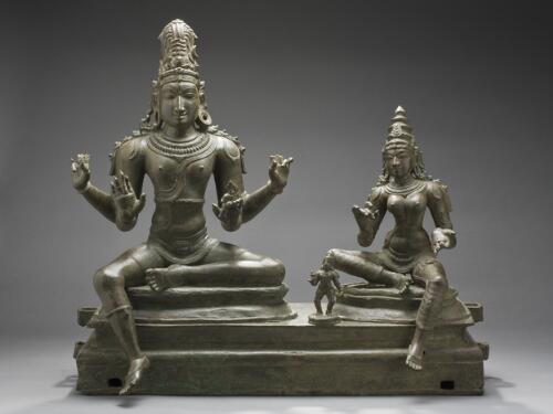 Shiva with Uma and Skanda