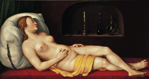 A Sleeping Woman (Vanitas)