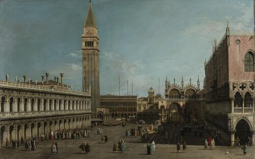 The Piazzetta, Venice, Looking North